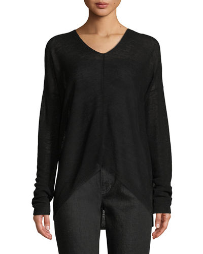 Eileen Fisher Organic Linen Box Sweater, Plus Size