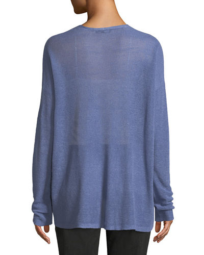 Organic Linen/Lyocell Box Sweater