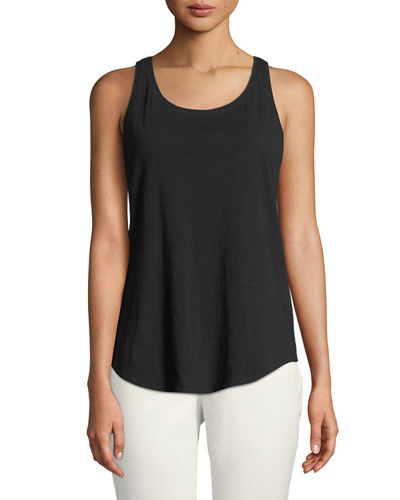 Plus Size Slub Organic Cotton Tank