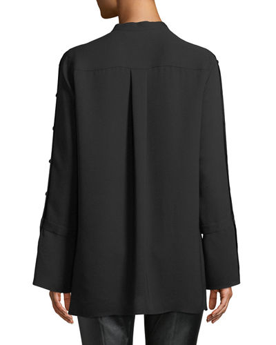 Nicolette Silk Double Georgette Blouse
