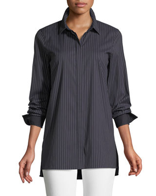Brayden Stanford Stripe Blouse, Ink Multi