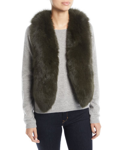 Short Fur Vest w/ Cutout Back