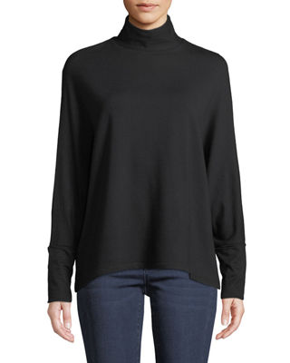 Majestic Paris for Neiman Marcus Cowl-Neck Jersey Top