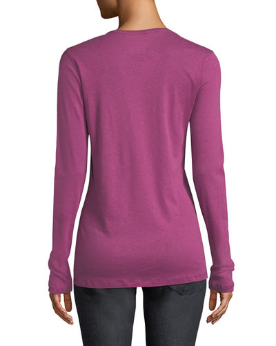 Cathy Crewneck Cotton-Cashmere Top