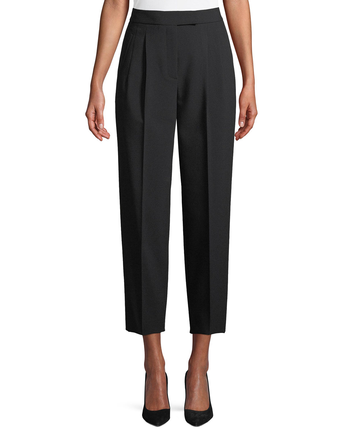 City Pants Tapered-Leg Cropped Prospective Light Pants