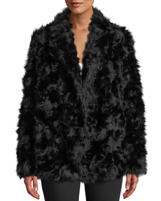 Clairene Jackson Faux-Fur Jacket in Black