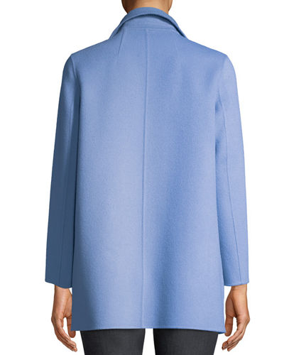 Clairene Open-Front New Divide Wool-Cashmere Coat