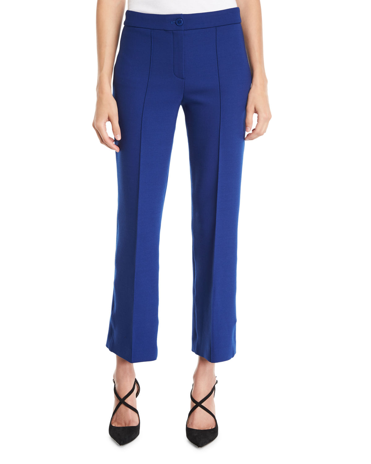 Cardinal Cropped Straight-Leg Trousers