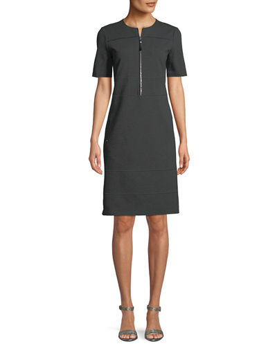 Demi Punto Milano Zip-Up Dress