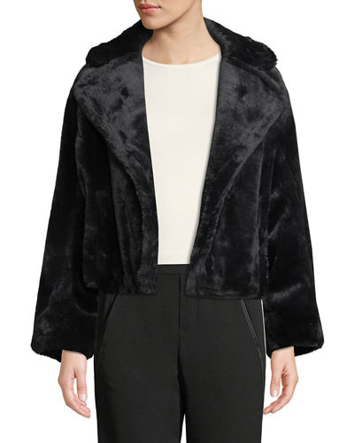 Plush Faux-Fur Coat