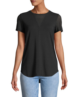 ANATOMIE MIA SHORT-SLEEVE TOP WITH MESH