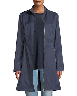 ANATOMIE Farreta Zip-Front Lightweight Windproof Jacket in Navy