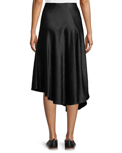 Bias-Cut Asymmetric Midi Skirt