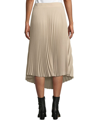 Draped Pleated Midi Skirt