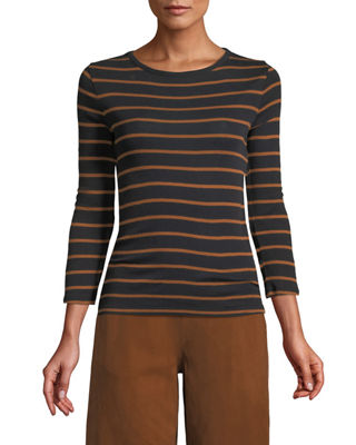 Vince Classic Striped Crewneck Top and Matching Items