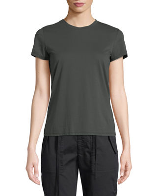 Vince Essential Crewneck Pima Cotton Tee and Matching