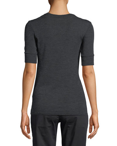 Short-Sleeve Wool Crewneck Tee
