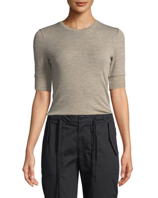 Vince Short-Sleeve Wool Crewneck Tee