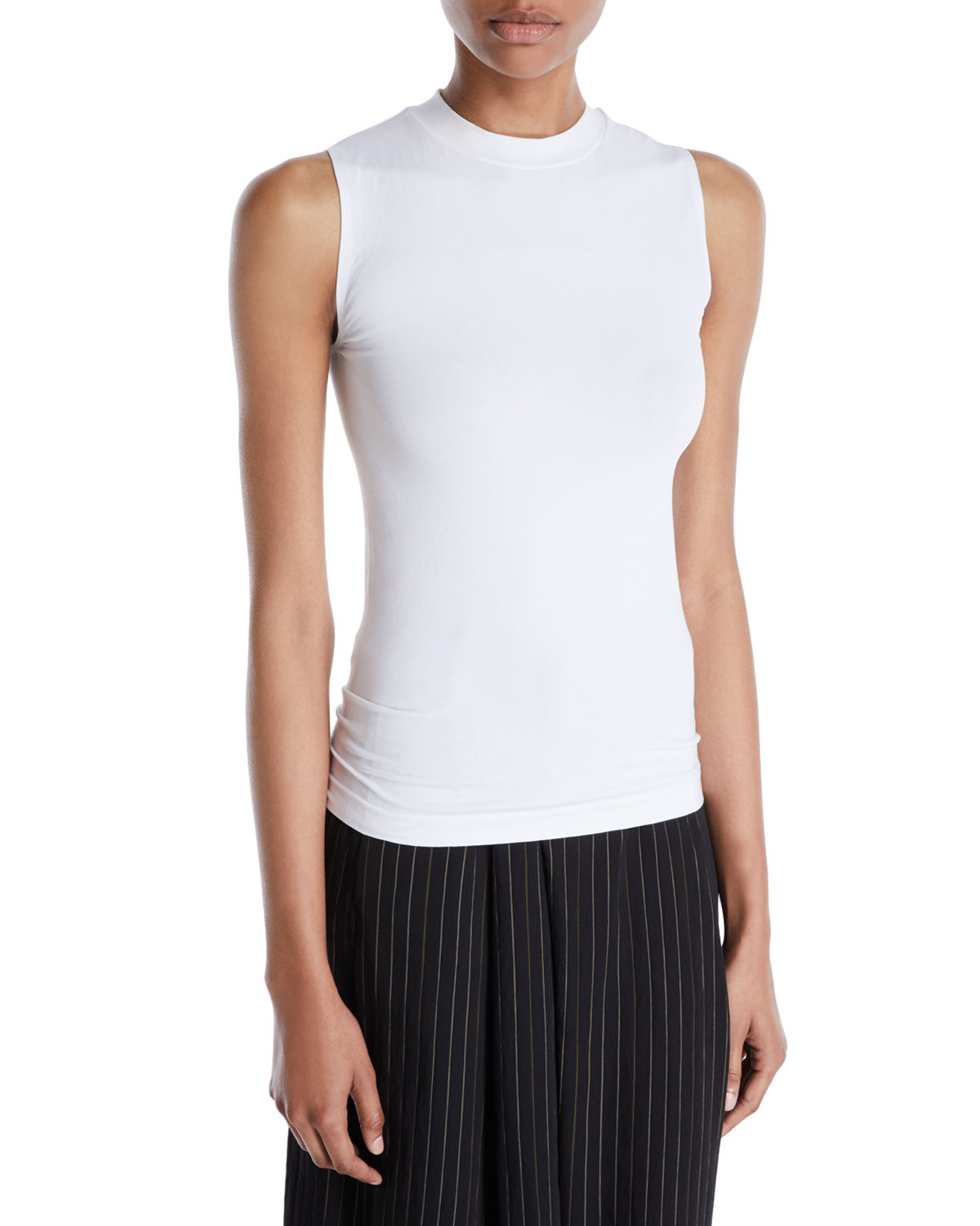 Fitted Sleeveless Crewneck Top