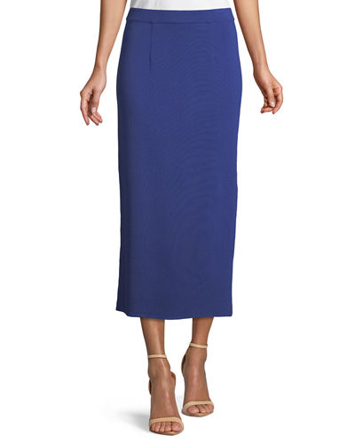 "36"" Straight Knit Skirt, Plus Size"