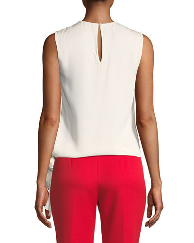 Jana Stretch-Silk Hem-Tie Top