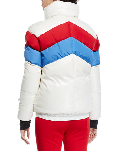 Moncler Grenoble Lamar Colorblock Ski Coat