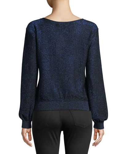 Shimmer Metallic Pullover Sweater