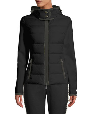 Moncler Grenoble Down-Filled & Knit Combo Jacket and