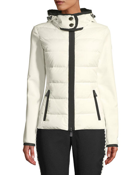 MONCLER GRENOBLE DOWN-FILLED & KNIT COMBO JACKET