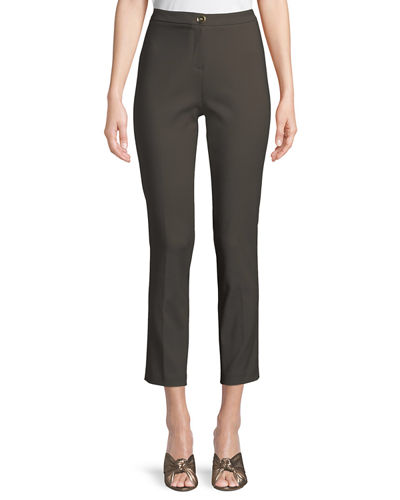 Classic Skinny Pants w/ Button Closure