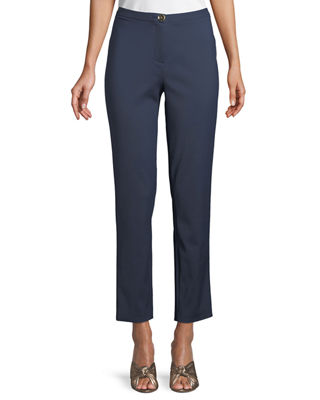 Badgley Mischka Collection Classic Skinny Pants w/ Button