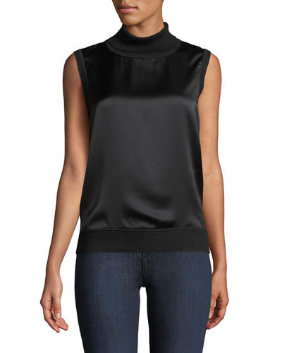 Abigail Sleeveless Silk Blouse