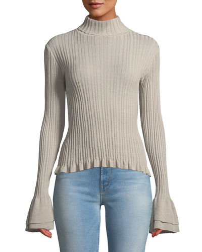 Zabrina Ribbed Turtleneck Top