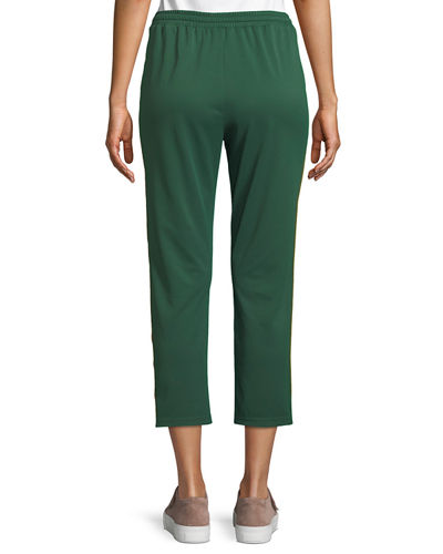 Jolie Side-Stripe Cropped Track Pants