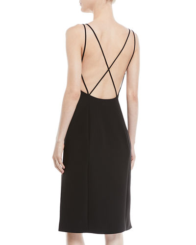 Denton Strappy Low-Back Sleeveless Dress