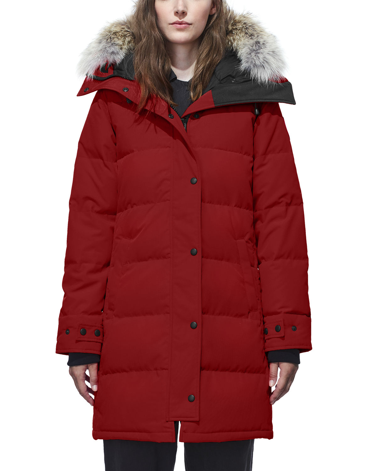 Shelburne Slim-Fit Parka w/ Removable Fur Trim