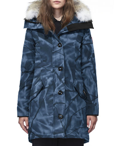 Rossclair Fur-Trim Hooded Down Parka