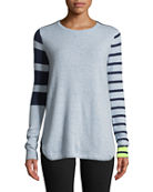 Lisa Todd Classic Pop Striped Cashmere Sweater and