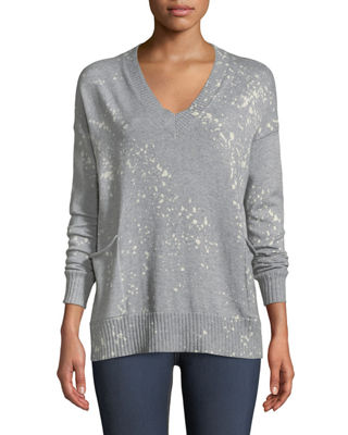 Lisa Todd Art Attack V-Neck Long-Sleeve Sweater w/