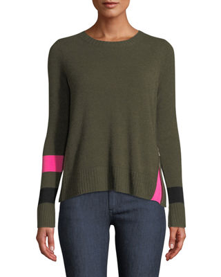 Lisa Todd Sneak Peek Cashmere Sweater w/ Peekaboo