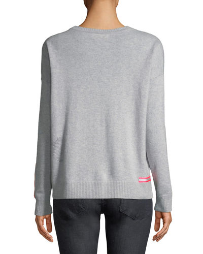 Love Cashmere Sweater w/ Reflector Trim