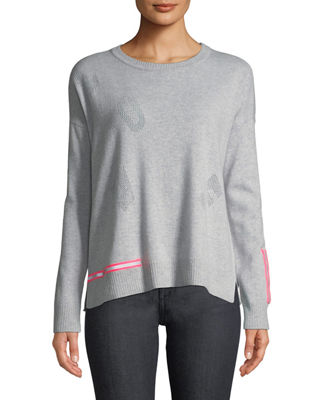 Lisa Todd Love Cashmere Sweater w/ Reflector Trim