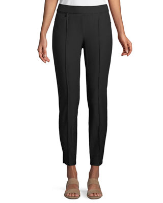 Eileen Fisher Slim Ankle Pants w/ Pintucks, Plus