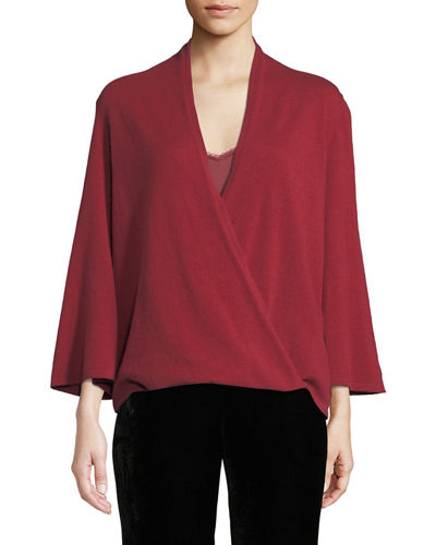 572c18ac21a93 Long Sleeves Surplice Top