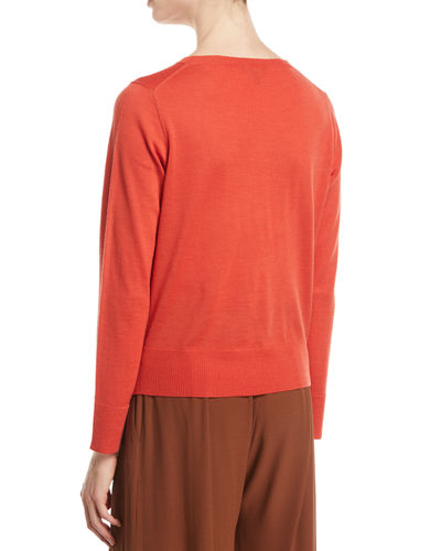 Ultrafine Merino Wool Boxy Sweater