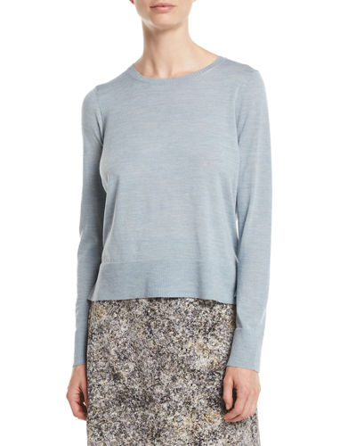 Ultrafine Merino Wool Boxy Sweater, Petite