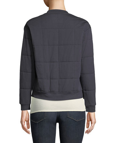Majestic Paris for Neiman Marcus Quilted Zip-Front Bomber Jacket