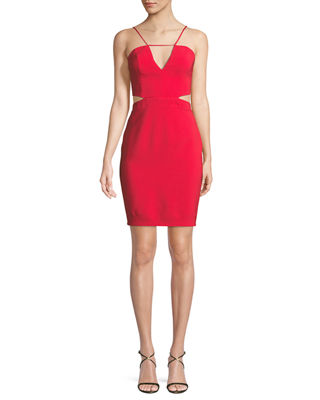 Maria Bianca Nero Melani Cutout V-Neck Mini Dress