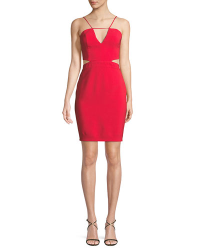 Melani Cutout V-Neck Mini Dress