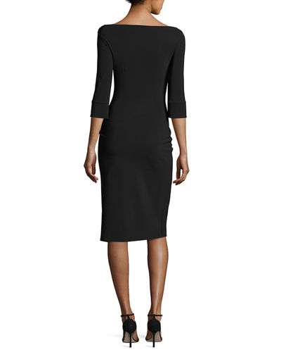 Custom Collection: Hermine 3/4-Sleeve Overlap Cocktail Dress